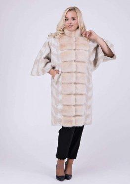 Элегантное пальто с мехом эко норки
