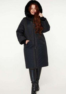 Зимнее пальто с натуральной опушкой М 910