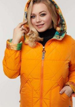 Двухсторонняя куртка демисезонная апельсин