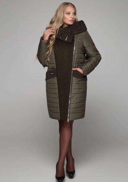 Двубортное пальто женское зимнее в размерах 50-68