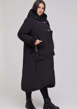 Длинное пальто А-образного силуэта
