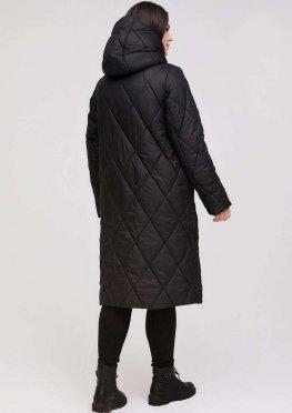 Удлиненное стеганное пальто еврозима