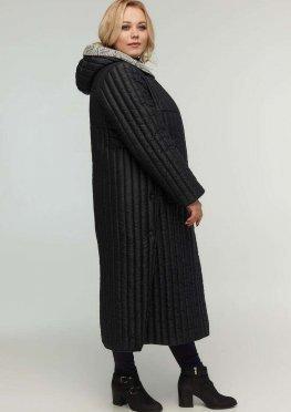 Стильное пальто с разрезами по бокам