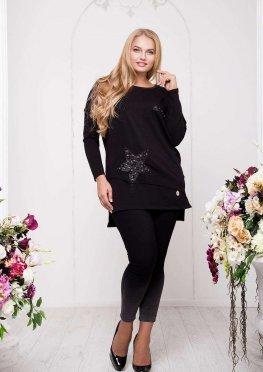 Женский черный пуловер, Арт. А42