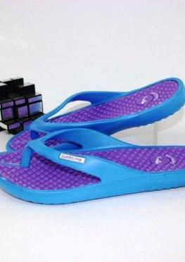 Женские вьетнамки голубые-фиолетовые