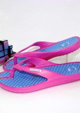 Женские вьетнамки розово-фиолетовые