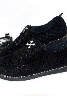 Комфортные женские туфли с перфорацией