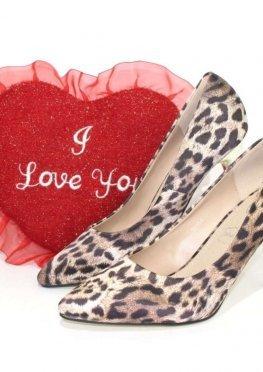 Модельные туфли леопардовый принт