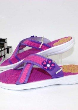 Шлёпанцы женские фиолетово-розовые