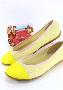 Летние балетки желтые