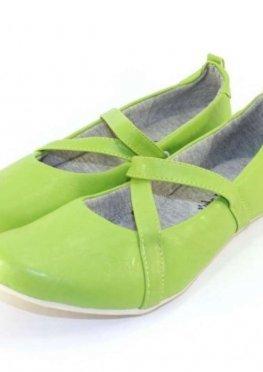 Балетки женские цвет зеленый