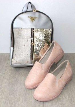Туфли женские розовые