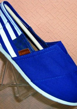 Эспадрильи синий флаг