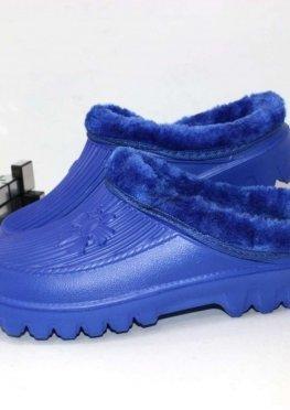 Галоши сабо женские синие
