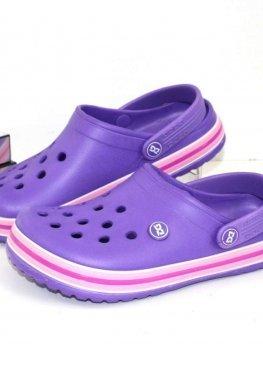 Женские кроксы фиолетового цвета