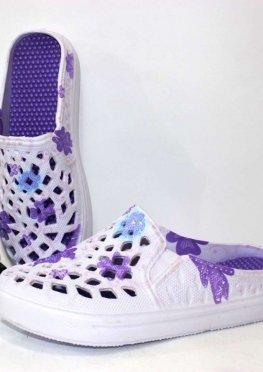 Сабо женские цвет-фиолет