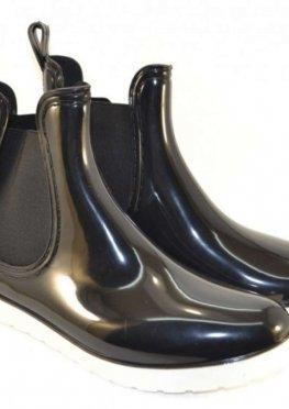 Силиконовые ботинки на белой подошве