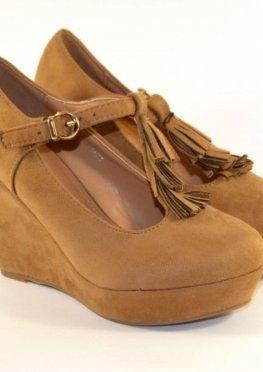 Туфли женские на танкетке CAMEL