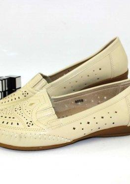 Туфли женские летние большие размеры бежевого цвета
