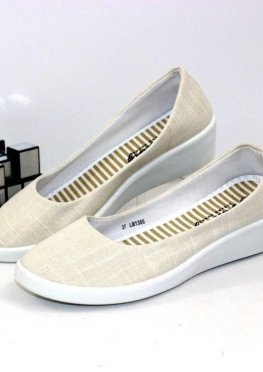 Женские текстильные летние туфли