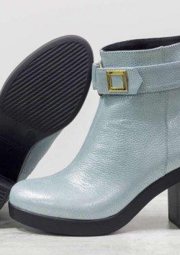 Ботильоны для женщин на среднем каблуке, нежного голубого цвета