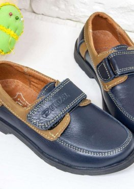 Подростковые Туфли топ-сайдеры из натуральной кожи черного и коричневого цвета