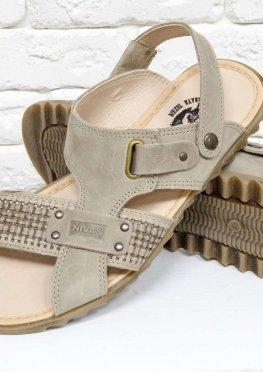 Мужские сандалии-шлепки из нубука черного цвета
