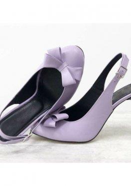 Дизайнерские туфли на шпильке с открытой пяткой