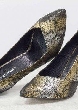 Туфли на шпильке из натуральной эксклюзивной итальянской кожи