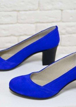 Туфли из натуральной замши цвета