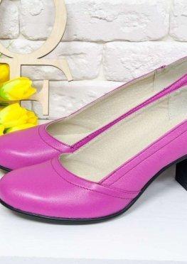 Женские Туфли из натуральной кожи сочного цвета фуксия