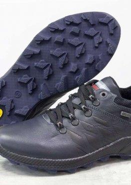 Спортивные мужские Туфли из натуральной кожи синего цвета