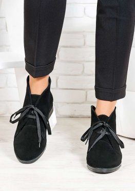 Ботинки Gretta черная замша 6659-28