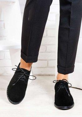 Туфли натуральная замша шнурки