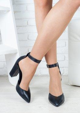 Босоножки - туфли Bogemiya черная кожа