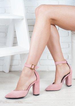 Босоножки - туфли Bogemiya пудра замша