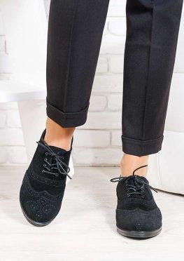Oksford туфли черная замша
