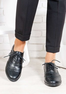 Oksford туфли черная кожа
