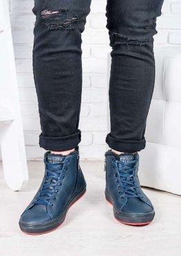 Мужские синие ботинки