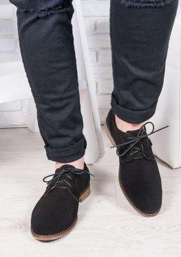 Мужские замшевые черные туфли