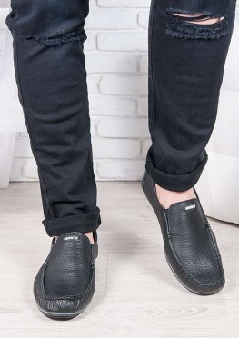 Мужские кожаные мокасины