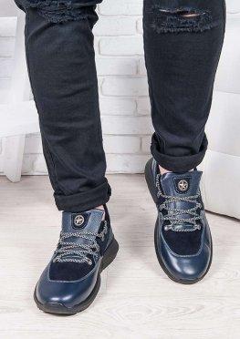 Мужские кроссовки т.синий