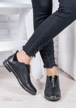 Туфли черная кожа Никки