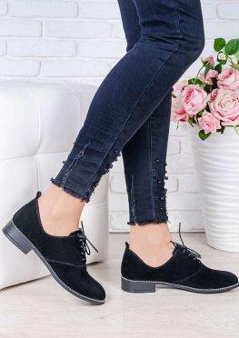 Туфли черная замша Эвелин