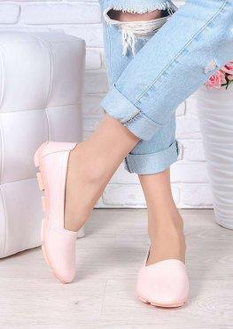 Туфли мокасины пудра кожа
