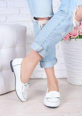 Туфли белые кожаные Bant