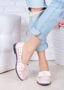 Туфли пудра кожаные Bant (лето)