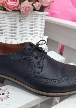 Мужские туфли Оксфорды черные