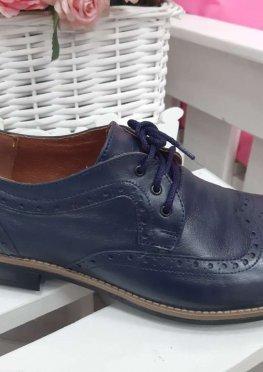 Мужские туфли Оксфорды синие