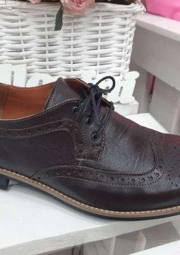 Мужские туфли Оксфорды коричневые